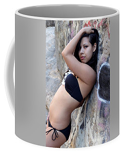Coffee Mug featuring the photograph Young Hispanic Woman by Henrik Lehnerer