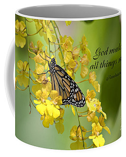 Butterfly Scripture Coffee Mug