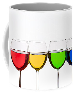 Colorful Wine Glasses Coffee Mug