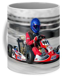 Coffee Mug featuring the photograph Racing Go Kart by Gunter Nezhoda