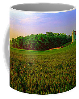Conley Rd Spring Pasture Oaks And Barn  Coffee Mug