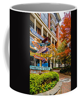 Charlotte City Skyline Autumn Season Coffee Mug