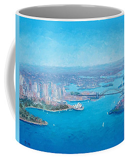 Sydney Harbour And The Opera House Aerial View  Coffee Mug