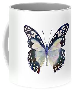 90 Angola White Lady Butterfly Coffee Mug