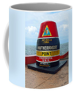 Southernmost Point Key West - 90 Miles To Cuba Coffee Mug