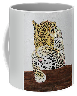 Coffee Mug featuring the painting 97.. 95..99....100  Ready Or Not by Stephanie Grant