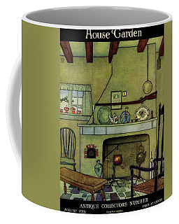 A 1920's Idea Of A Colonial Kitchen Coffee Mug