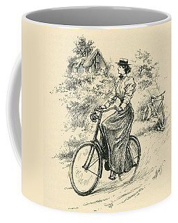 A 19th Century Female Cyclist Coffee Mug