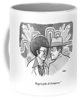 A 70's Disco Man Speaks To Jack Nicholson's Coffee Mug