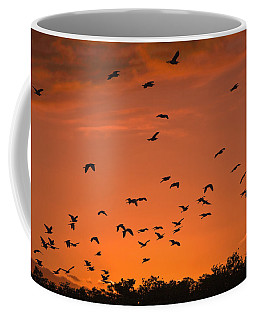 Birds At Sunset Coffee Mug