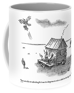A Back Country Couple Sit On Their Porch Coffee Mug