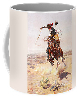 Coffee Mug featuring the painting A Bad Hoss by Celestial Images