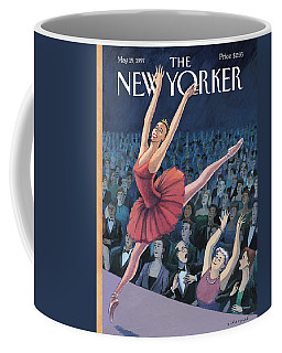 A Ballerina Performs In Front Of An Audience Coffee Mug