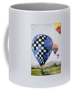 A Balloon Disaster Coffee Mug by Donna Tucker