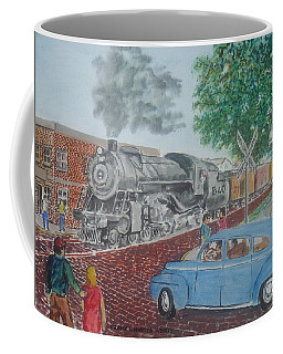 A Baltimore And Ohio Freight Passes Tracy Park Portsmouth Ohio Coffee Mug