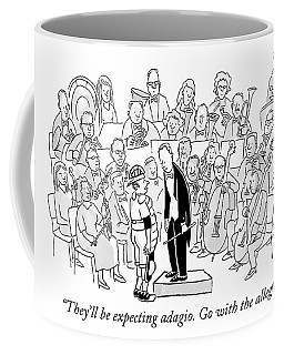 A Baseball Catcher Speaks To An Orchestra Coffee Mug