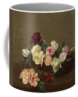 Coffee Mug featuring the painting A Basket Of Roses by Henri Fantin-Latour