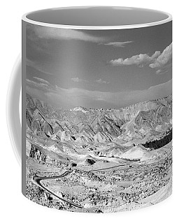 A Black And White Landscape Coffee Mug