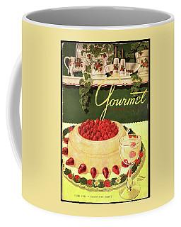 A Blancmange Ring With Strawberries Coffee Mug