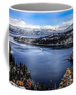 Coffee Mug featuring the photograph A Bluebird Day At Emerald Bay by Mitch Shindelbower