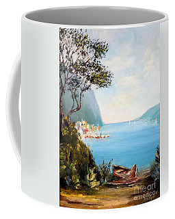 A Boat On The Beach Coffee Mug by Lee Piper