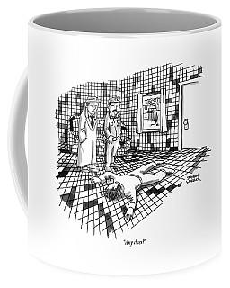 A Body Lies Face Down In A Room Where The Walls Coffee Mug