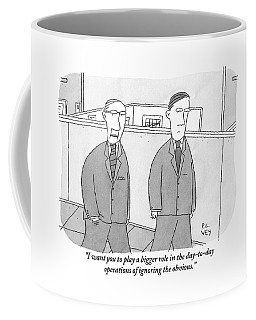 A Boss Speaks To His Employee In The Office Coffee Mug