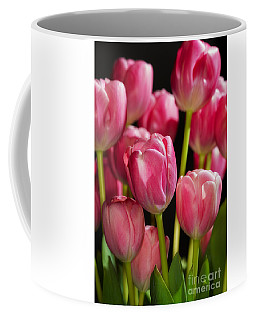 Coffee Mug featuring the photograph A Bouquet Of Pink Tulips by Nick  Biemans