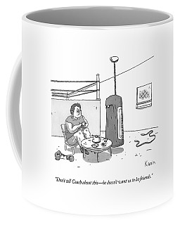 A Boxer Has A Tea Cup Party With A Punching Bag Coffee Mug