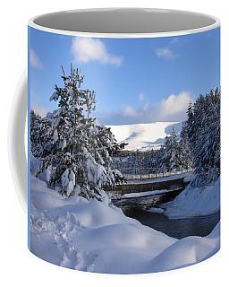 A Bridge In The Snow Coffee Mug