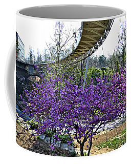 Coffee Mug featuring the photograph A Bridge To Spring by Larry Bishop