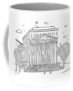 A Building In Washington Dc Is Shown Coffee Mug