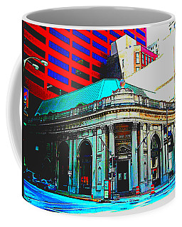 A Building Of Every Size Painted Coffee Mug by Kelly Awad