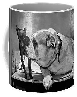 A Bulldog And A Puppy Coffee Mug