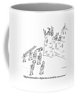 A Bunch Of Commoners File Toward A Castle Coffee Mug