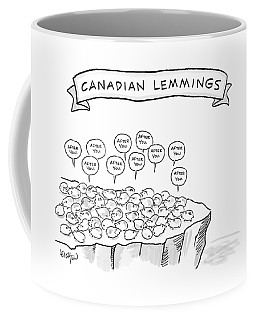 A Bunch Of Lemmings On A Cliff Saying After You Coffee Mug