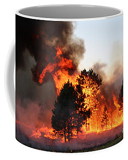 A Burst Of Flames From The White Draw Fire Coffee Mug