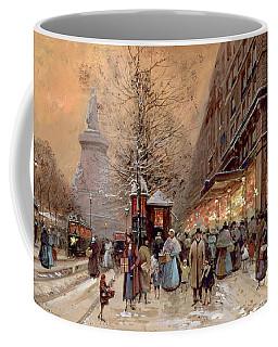 A Busy Boulevard Near The Place De La Republique Paris Coffee Mug