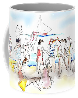 A Busy Day At The Beach Coffee Mug