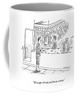 A Capeless Superherp Gives His Claim Ticket Coffee Mug
