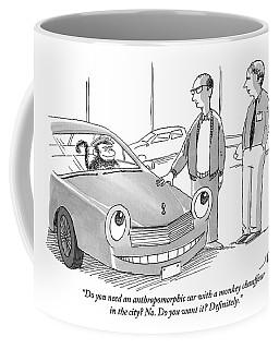 A Car Salesman Gives A Pitch To A Prospective Coffee Mug