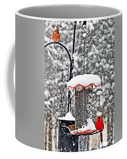 A Cardinal Winter Coffee Mug by Lydia Holly