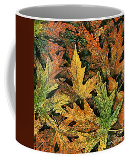 Coffee Mug featuring the painting A Carpet Of  Falling Leaves by Dragica  Micki Fortuna