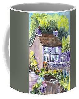 Coffee Mug featuring the painting A Castleton Cottage In Uk by Carol Wisniewski