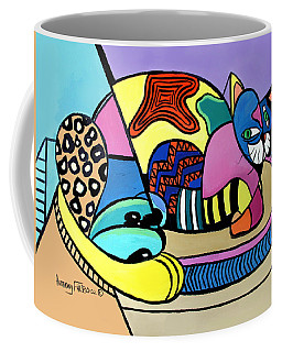 Coffee Mug featuring the painting A Cat Named Picasso by Anthony Falbo
