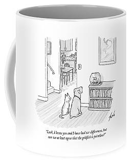 A Cat Speaks To A Dog Coffee Mug