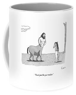 A Centaur Angrily Talks To A Creature Who Coffee Mug