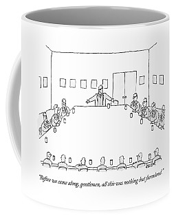 A Ceo Stands And Talks To Employees In A Business Coffee Mug