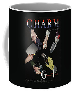 A Charm Cover Of Women's Hands Reaching For Tools Coffee Mug