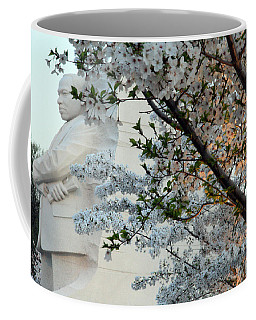 Coffee Mug featuring the photograph A Cherry Blossomed Martin Luther King by Cora Wandel
